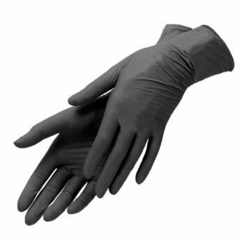 Перчатки нитриловые черные размер S Benovy